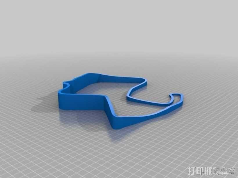 赛道 曲线模型 3D模型  图2