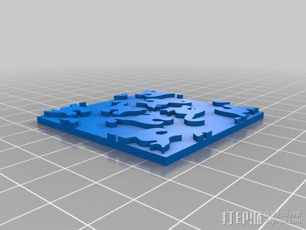 猫咪拼贴 3D模型  图4