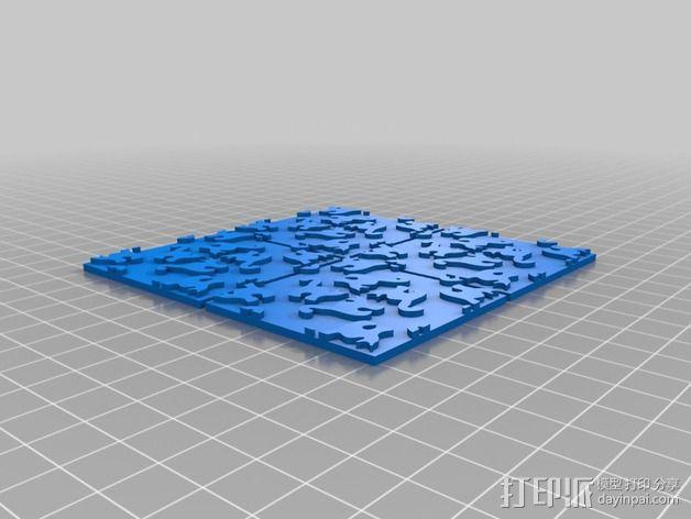 猫咪拼贴 3D模型  图5