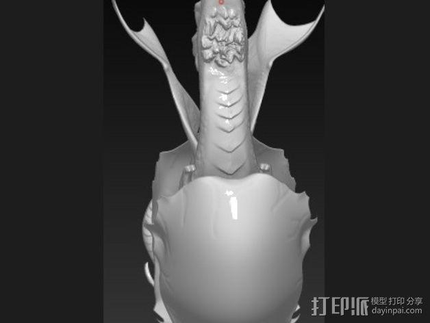 破壳的龙 模型 3D模型  图3