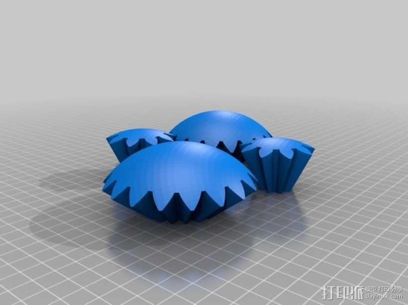 齿轮球 3D模型  图3