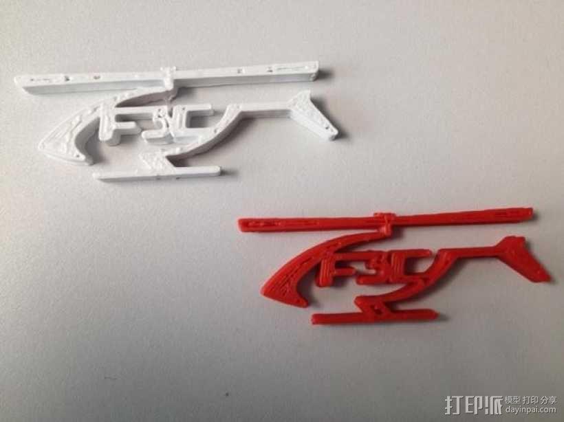 F3C标志 直升机  3D模型  图1