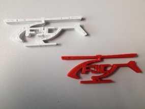F3C标志 直升机  3D模型