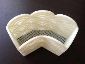 屏风式笔筒 3D模型