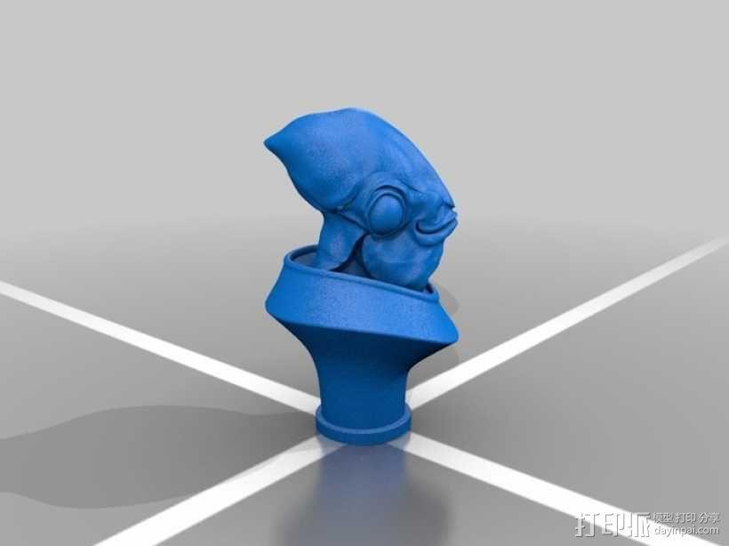 Ackbar半身像模型 3D模型  图1