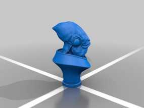 Ackbar半身像模型 3D模型
