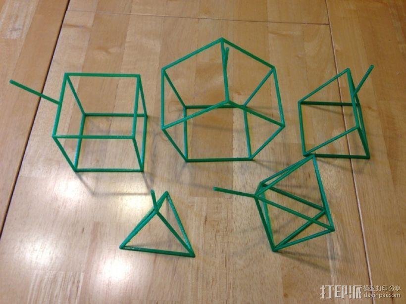线性结构几何体 3D模型  图1