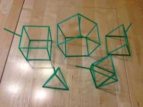 线性结构几何体 3D模型