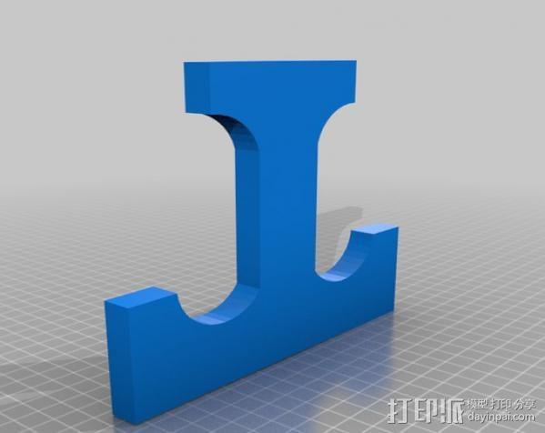 T字标志 3D模型  图2