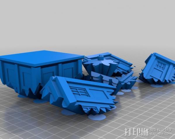 警察亭形齿轮 3D模型  图2