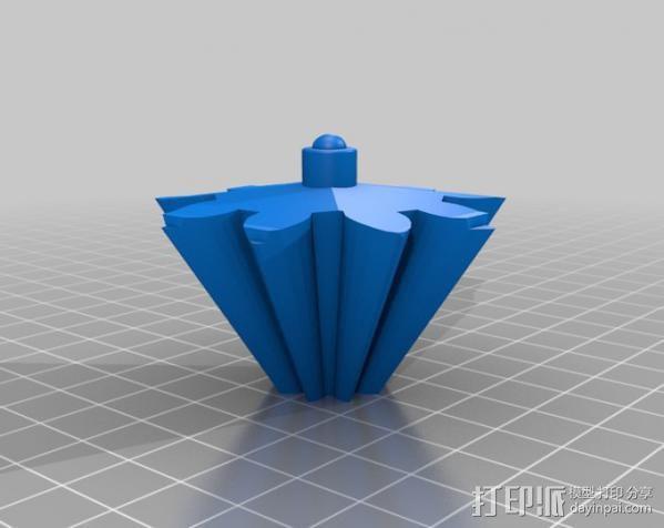 警察亭形齿轮 3D模型  图6