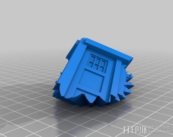 警察亭形齿轮 3D模型  图7