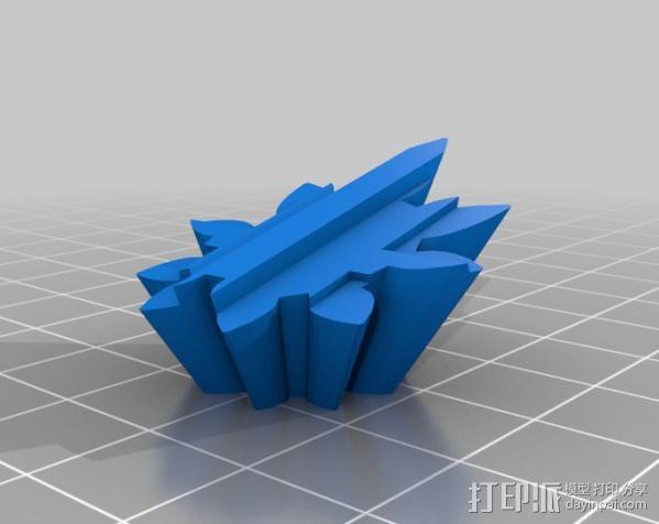 警察亭形齿轮 3D模型  图8