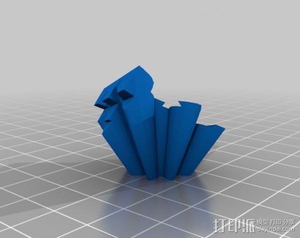 警察亭形齿轮 3D模型  图12