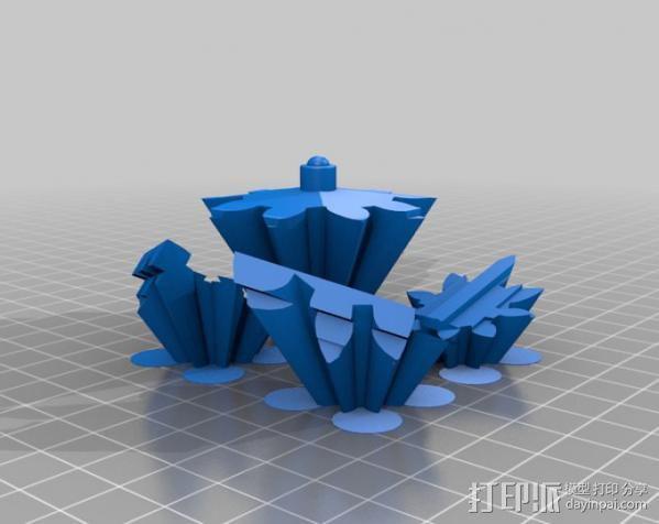 警察亭形齿轮 3D模型  图15