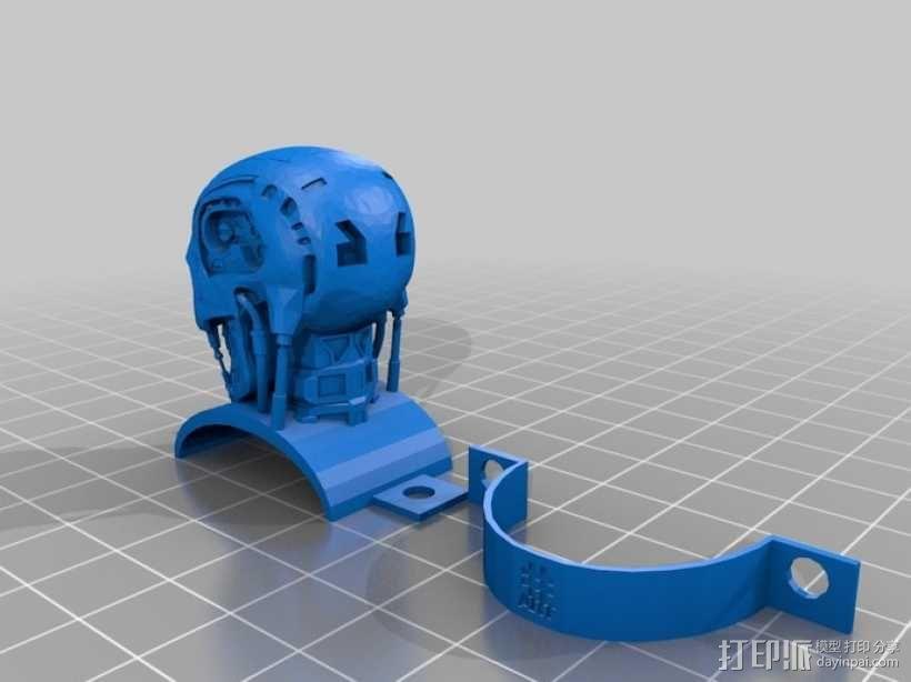 终结者骷髅头模型 3D模型  图1