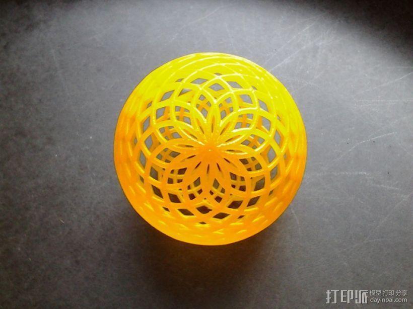 菱格纹球体 3D模型  图1