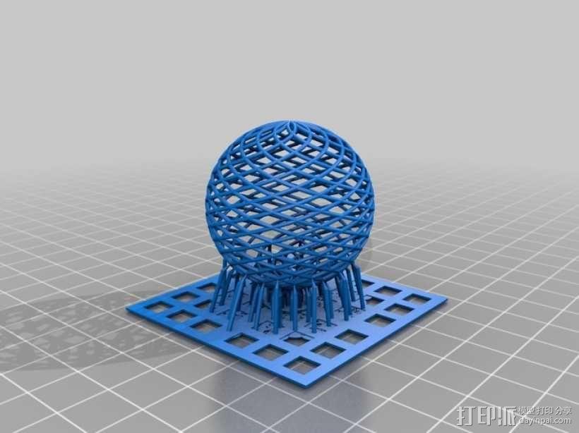 菱格纹球体 3D模型  图3