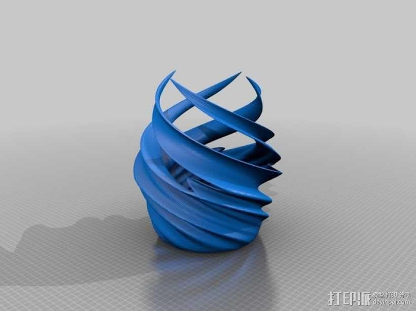 涡型花瓶 3D模型  图1