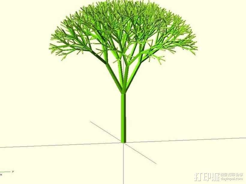 递归树 3D模型  图1