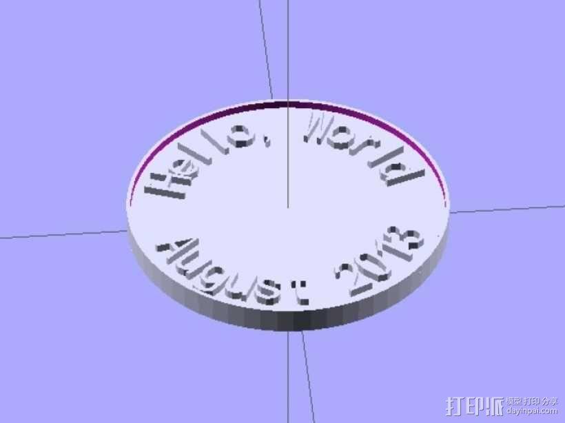 定制硬币 3D模型  图1