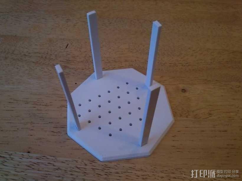 权利的游戏史塔克家族徽章笔筒 3D模型  图4