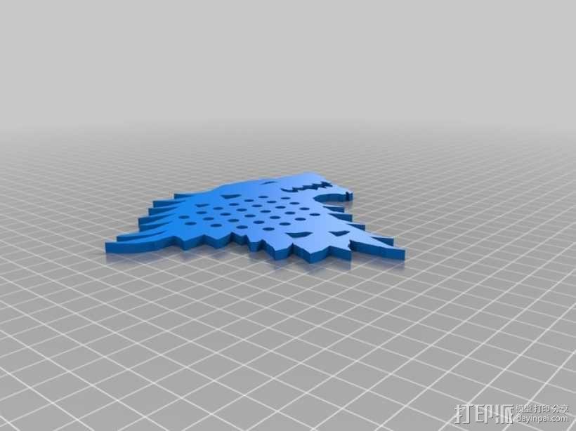 权利的游戏史塔克家族徽章笔筒 3D模型  图6