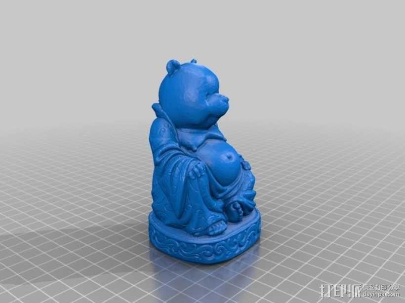 小熊维尼大佛 3D模型  图2