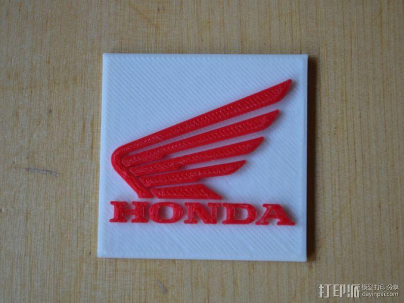 本田摩托车标志 3D模型  图1