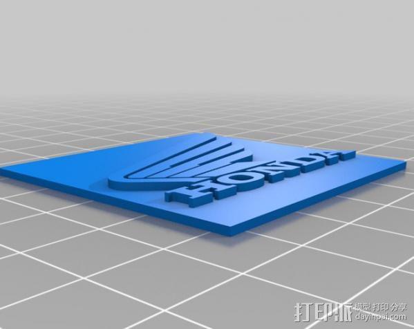 本田摩托车标志 3D模型  图2
