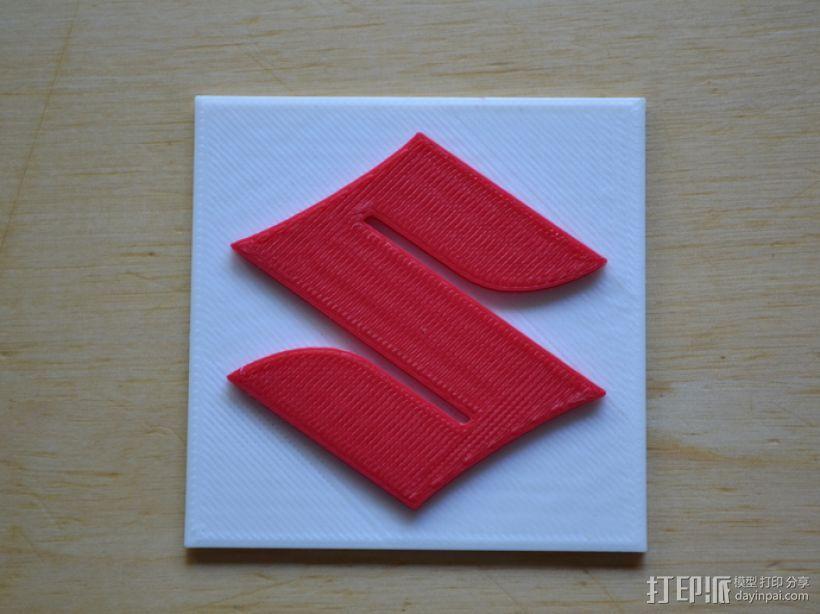 铃木Logo 3D模型  图1