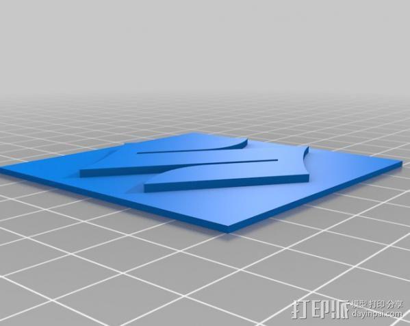 铃木Logo 3D模型  图2