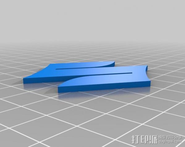 铃木Logo 3D模型  图3