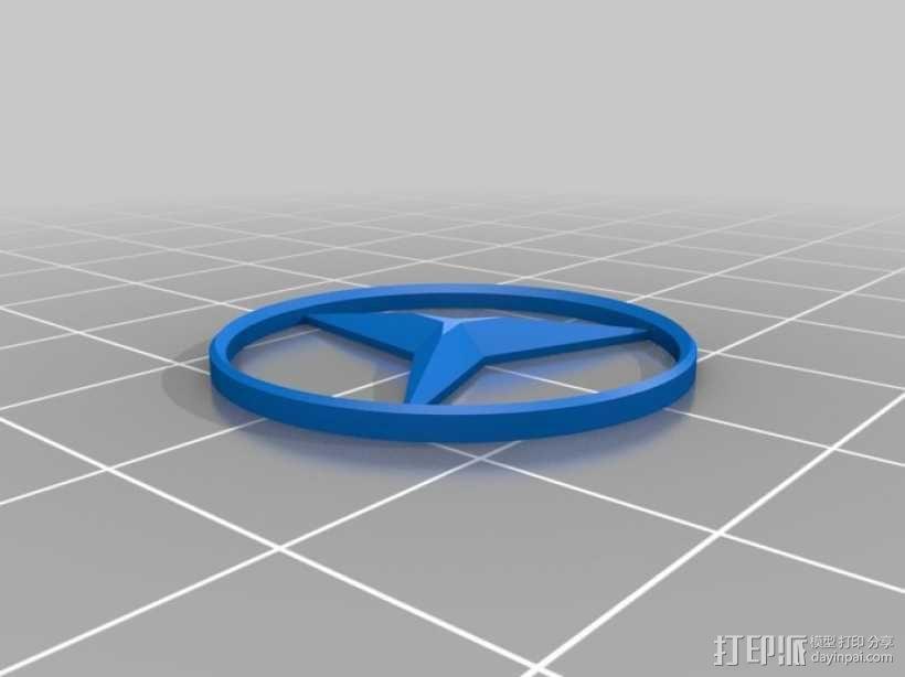 奔驰Logo 3D模型  图2