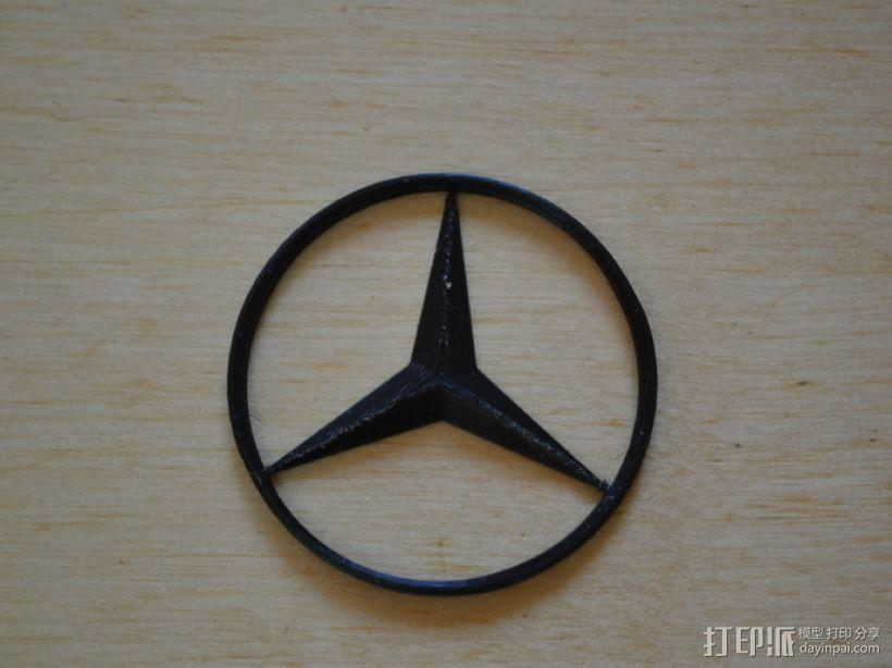奔驰Logo 3D模型  图1