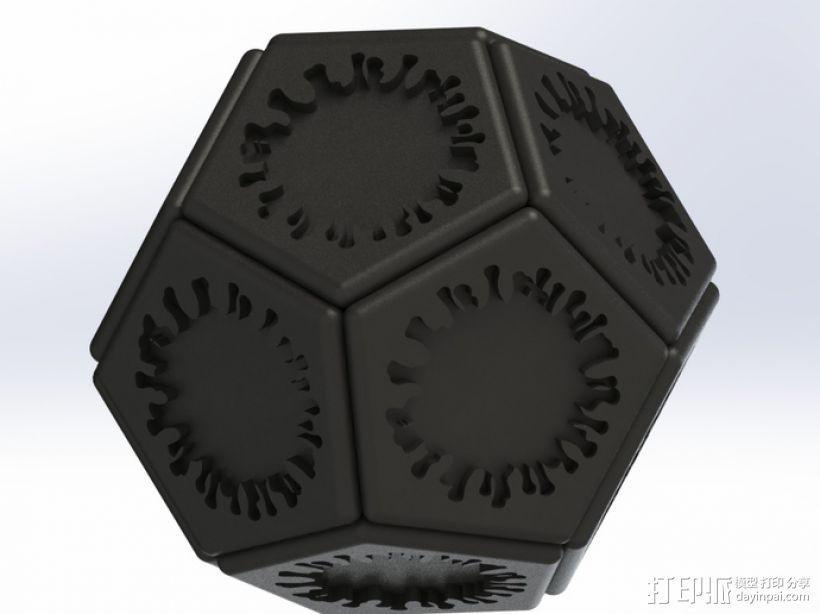 正十二面体 病毒模型 3D模型  图1