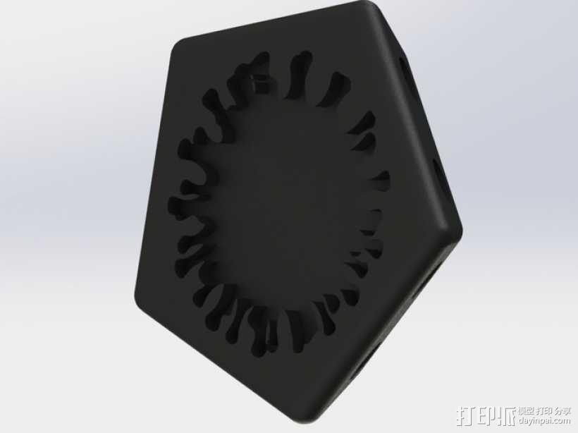 正十二面体 病毒模型 3D模型  图4