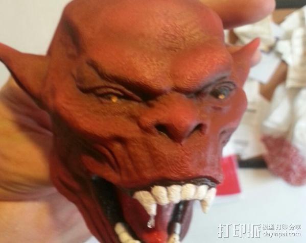 魔鬼头墙饰 3D模型  图2