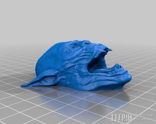 魔鬼头墙饰 3D模型  图6