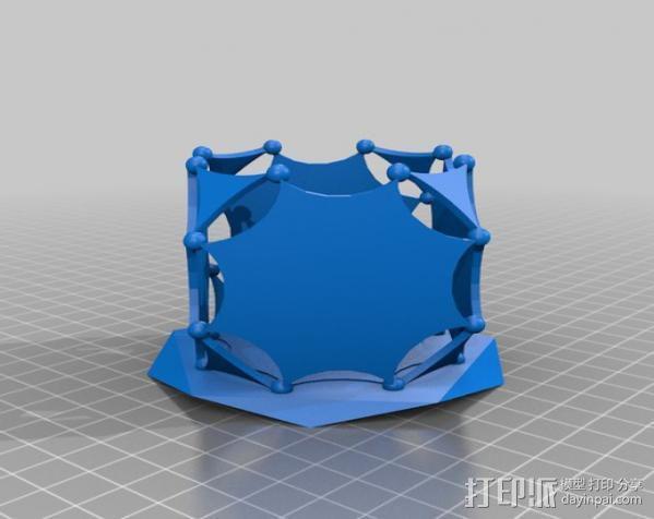 阿基米德多面体笔筒 3D模型  图2