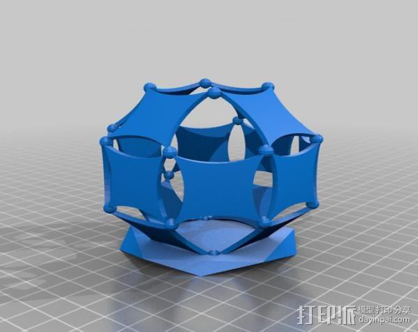 阿基米德多面体笔筒 3D模型  图5
