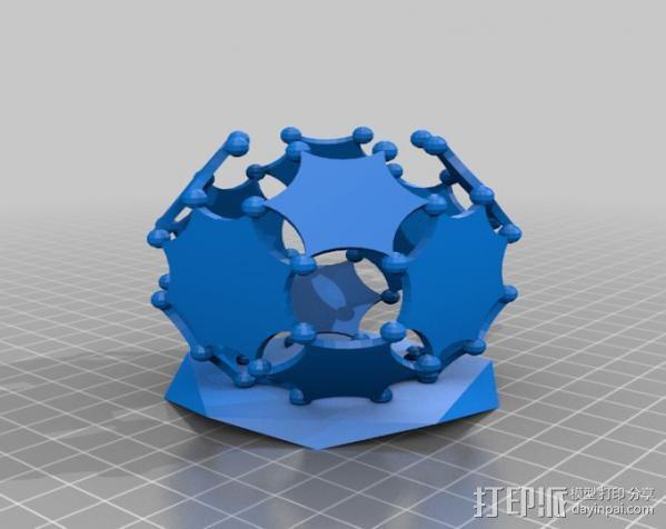 阿基米德多面体笔筒 3D模型  图4