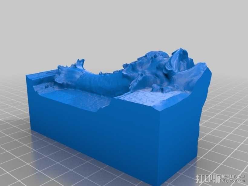 卢浮宫的鱼雕塑模型 3D模型  图2