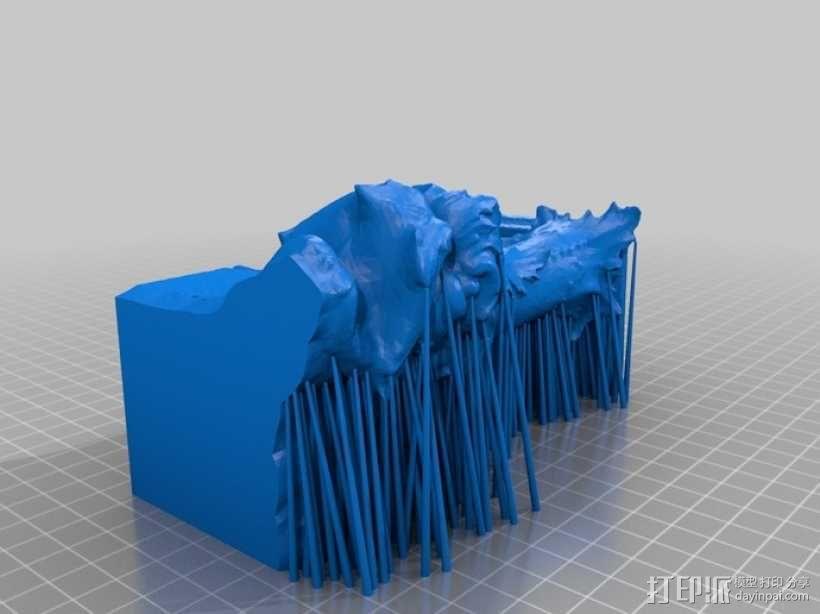 卢浮宫的鱼雕塑模型 3D模型  图3