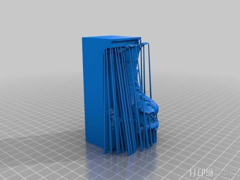 卢浮宫的鱼雕塑模型 3D模型  图4