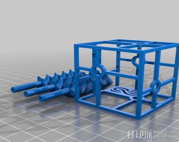 三螺旋模型 3D模型  图2