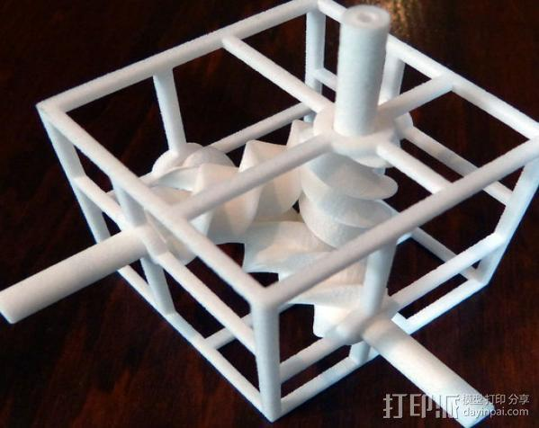 三螺旋模型 3D模型  图3