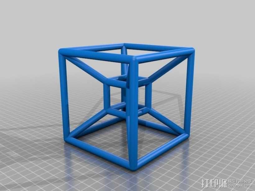 四维超正方体 3D模型  图2