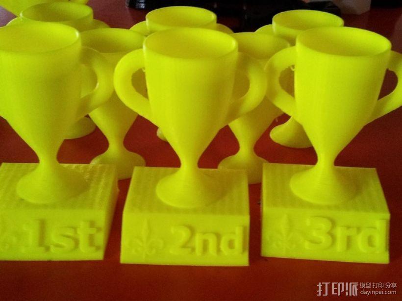 1,2,3名奖杯 3D模型  图1