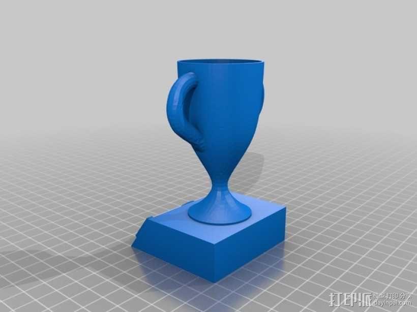 1,2,3名奖杯 3D模型  图2